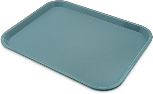 "Carlisle CT141859 Café Standard Cafeteria / Fast Food Tray, 14"" x 18"", Slate Blue (Pack of 12)"
