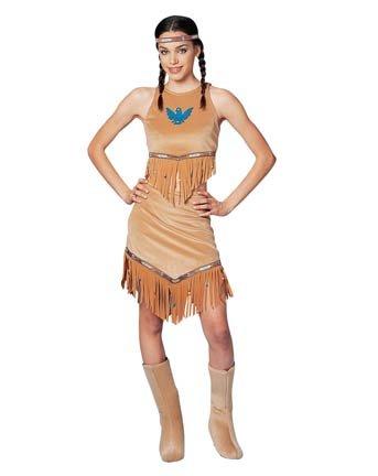 Native American Indian Squaw Teen Halloween Costume (Squaw Costume)