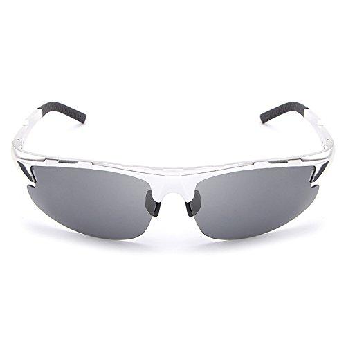 Shuo Silver de conducción Gafas Gafas de Sol la cuadradas Moda Gafas de Diseñador lan Polar Color Hombres Marca Sol de Masculino oculos de de Brown los New rFqwfr