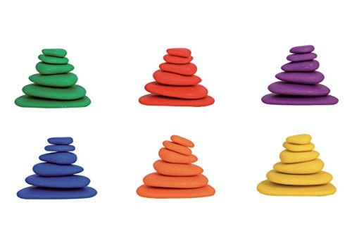 edx Education Rainbow Pebbles - Sorting and Stacking Stones by edxeducation (Image #4)