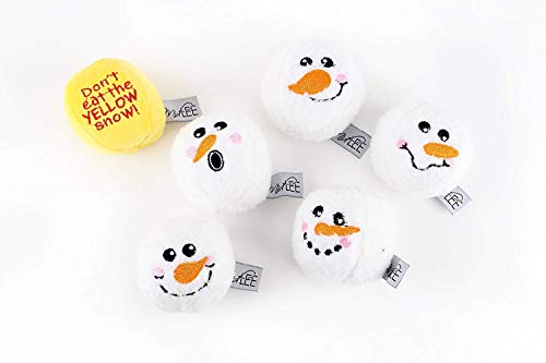 Midlee Snowball Fight Plush Dog Toy