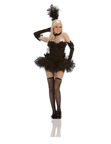 [Starline Women's Swan Costume Set, Black, Large] (Black Swan Costumes For Halloween)