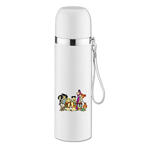 [Caryonom The Flintstones Insulated Water Bottle Travel Mug Vacuum Cup For Office Home Outdoor Adult] (Rosie Jetsons Costume)