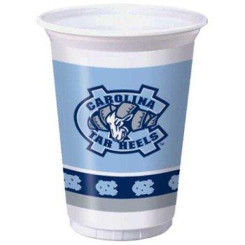 Premium Plastic Cups, North Carolina Tar Heels (Tar Heels Game Table)