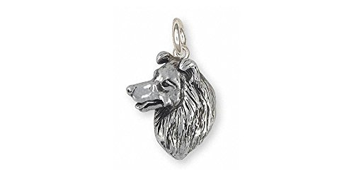 Border Collie Jewelry Sterling Silver Border Collie Charm Handmade Dog Jewelry BDC6-C