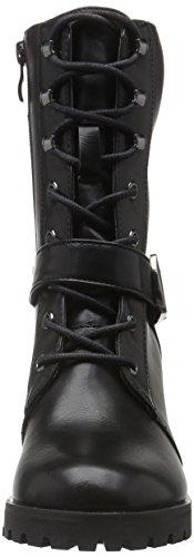 Femme Buffalo B163a Noir Doublure 01 72 à PU Froide P1735a Black Bottines TqZ1q8