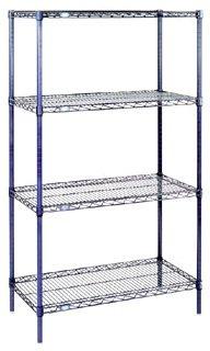 (Nexel 4-Shelf Wire Shelving Unit, Chrome Finish, 18