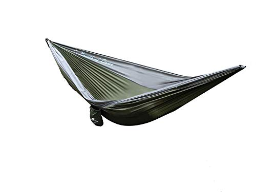 American Brother Outdoor Breath of Dawn Double Hammock Ripstop Nylon- Lightweight and Portable for Both Adults and Kids- Exceptional for Camping, Hiking, and Backpacking