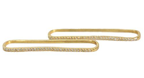 (Diamond Cartilage Bar Cuff Earring- NO PIERCING- Real Diamonds- Sterling Silver- Gold Vermeil )