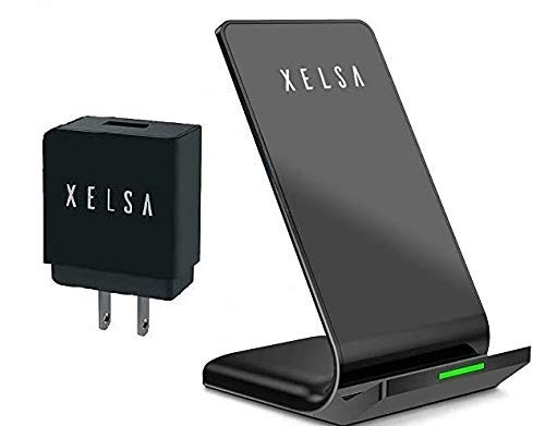 Fast Wireless Charger, Xelsa Qi Certified Wireless Charging Stand [with QC3.0 Adapter] Compatible iPhone X/XS/XR/XS Max/8/8Plus,10W Compatible Samsung ...