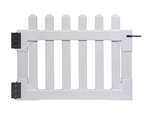 "(Zippity Outdoor Products ZP19004 Newport Vinyl Picket Unassembled Gate, 31""H x 41""W"