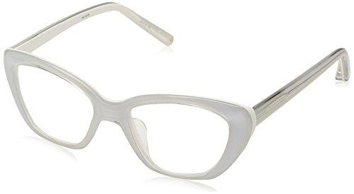 Elizabeth and James Women's Selma EJO#1521 WCL02/00 Cateye Eyeglasses, White, 50 mm by Elizabeth and James