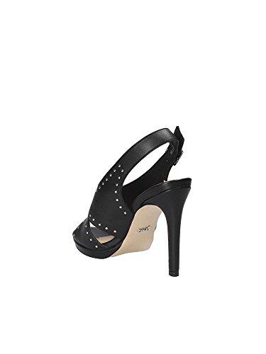 Sandalo Scarpe Woman Noir Leather Gaudi Eco Shoe Donna E9520 Borchie Black wC5qpB