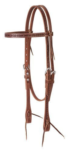 Weaver Leather Barbed Wire Browband Headstall, Brown by Weaver Leather ()