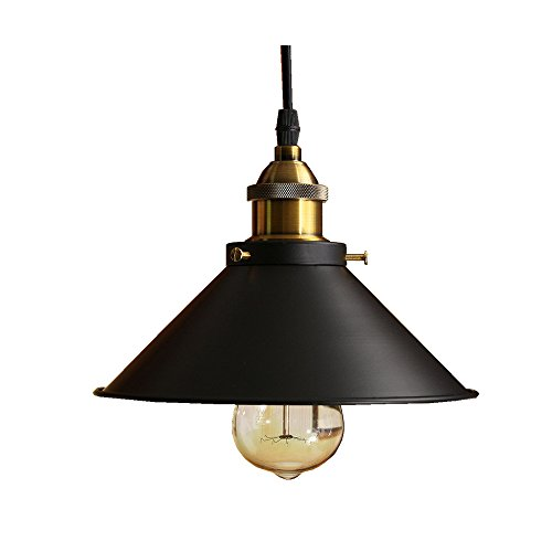jiguoor Fixture Ceiling Lamp Shade Retro Industrial Light Iron Vintage Pendant Light Deco Chandelier Parlor, Bedroom, Study Room, Restaurant, Corridor, Coffee Shop (E27 Edison Bulbs not Included)