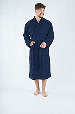 Bagno Milano Men's Wellsoft Microplush Robe, Hooded Velour Spa Bathrobe, Made in Turkey