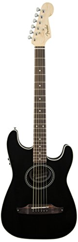 Fender Stratacoustic Acoustic Electric Guitar, Black