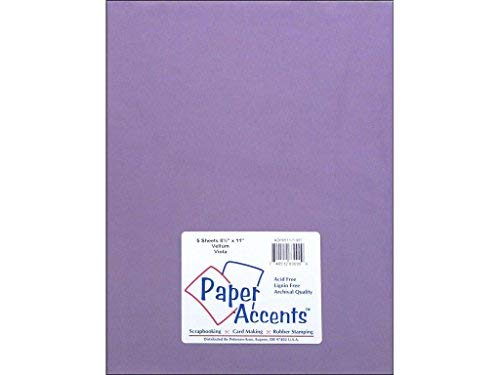 Accent Design Paper Accents Vellum 8.5x11 Viola - Paper Accents Vellum