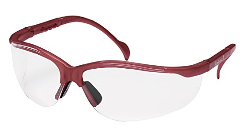 - Pyramex Venture Ii Safety Eyewear, Clear Lens With Maroon Frame