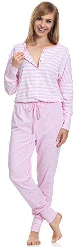 Be Mammy Mujer de una pieza Premamá Pijama BE20-130 Rosa