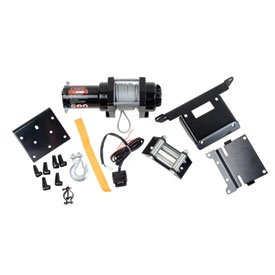 Tusk Winch with Wire Rope and Mount Plate 2500 lb. -Fits: Suzuki Eiger 400 2x4 Automatic 2002-2004
