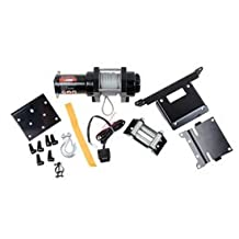 Tusk Winch with Wire Rope and Mount Plate 2500 lb. -Fits: Honda Rancher 420 4x4 2014-2015