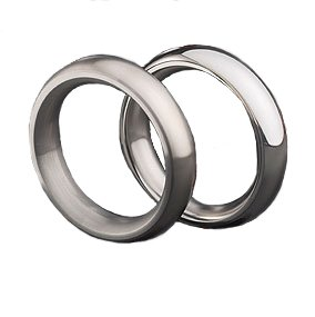 Imperial Series Metal Cock Ring: 2'', Brushed Finish