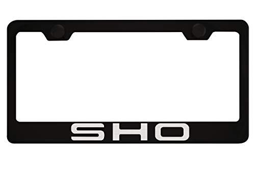 Fit Ford SHO Matt Black Liecnese Plate Frame Caps