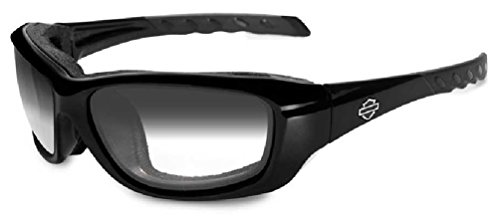 Harley-Davidson Gravity LA Grey Lens w/Gloss Black Frame - Lens Gloss Light Adjusting Grey