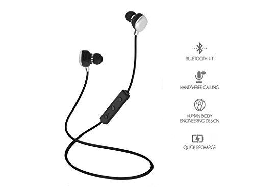 Bluetooth Headphones, Yostyle Wireless Headphones V4.1 Stereo Earphones Noise Cancelling Earbuds Sports Sweatproof Headset HiFi Stereo Sound in-Ear Earbuds with Mic for Cellphone Tablets TV