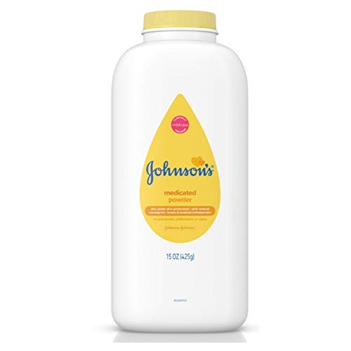 (JOHNSON'S Medicated Baby Powder 15 oz (Pack of 4))