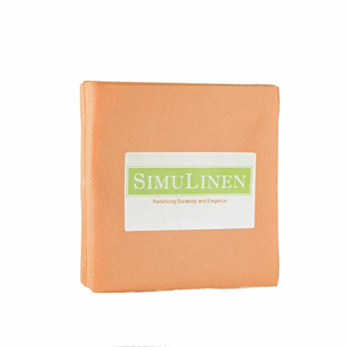 """Cocktail Peach (SimuLinen Cocktail & Party Napkins – APRICOT Beverage Napkins – Decorative, Absorbent, Cloth Like & Disposable – (10""""x10"""" – Pack of 250))"""