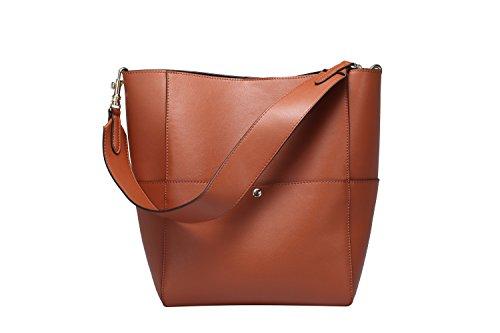 S-ZONE-Womens-Fashion-Vintage-Leather-Tote-Shoulder-Bag-Handbag-Purse