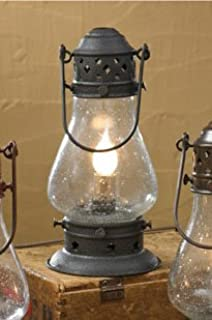 Bright galvanized champion electric lantern table lamp railroad park designs tall black onion lamp 9 12 aloadofball Images