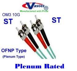 vaster-22030 – 2 - M - ST - STガラスom3 10 GB AQUAマルチモードデュプレックス50 / 125プレナム( OFNP )ファイバーパッチケーブル   B00QFT1CC0