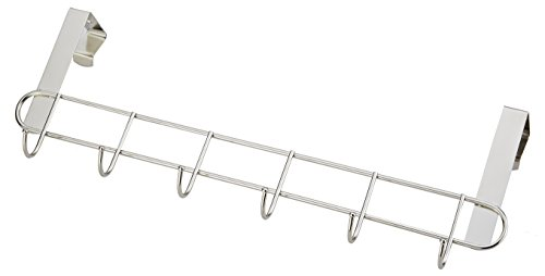 Pro Chef Kitchen Tools Over The Door Hook - General Purpose Storage Racks - 6 Coat Hooks - No Drill Towel Rack for Bathroom Storage Closet - Behind The Door Organizer Clothes Rack - Key Broom Hanger by Pro Chef Kitchen Tools (Image #5)