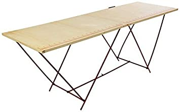 A Tapisser Pliante Pieds Metal Pliable Table Tapissier Bois Pro Yfb76yg