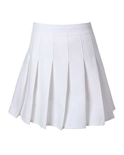 (GOLDSTITCH Women's high Waisted Pleated Cosplay Costumes Skirts)