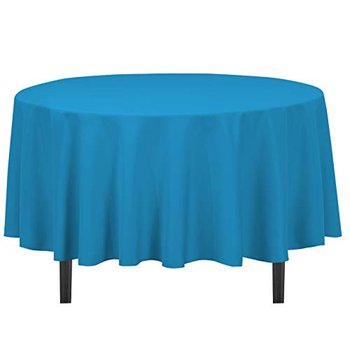 LinenTablecloth 90-Inch Round Polyester Tablecloth Caribbean -