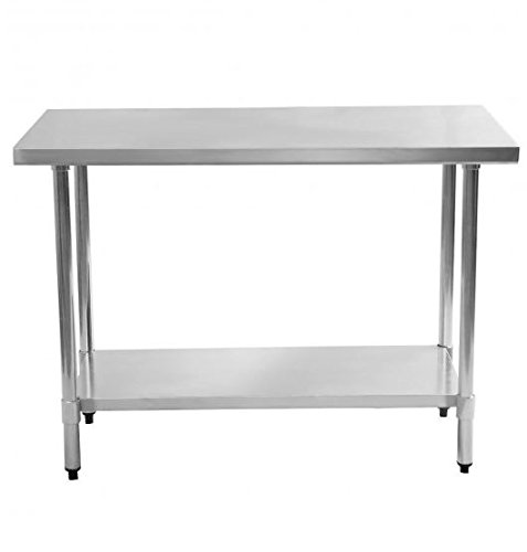 K&A Company X Stainless Steel Food Prep Table Work Commercial Kitchen 24'' x 48'' x 36''