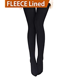Womens Opaque Warm Fleece Lined Tights - Thermal Winter...