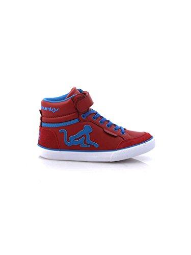 DrunknMunky Boston Classic 140 Sneakers Schuhe für Kinder, rot Bordeaux