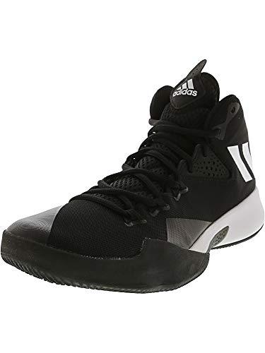 adidas Dual Threat 2017 Shoe - Men's Basketball 10 Core Black/White/Grey
