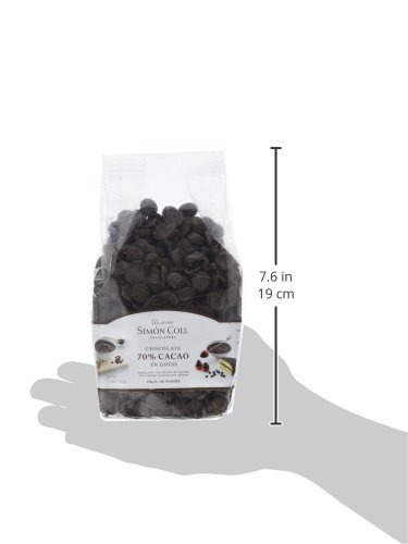 Simón Coll - Gotas de chocolate 70% cacao - 500 gr.: Amazon.es: Alimentación y bebidas