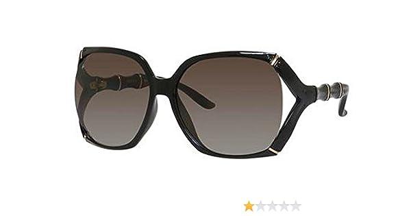 eeecd68e61d Amazon.com  Gucci GG3508 S Sunglass-0D28 Shiny Black (LA Brown Gradient  Lens)-58mm  Shoes
