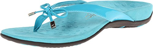 Vionic Women's Rest Bella II Toepost Sandal - Ladies Flip Flop with Concealed Orthotic Arch Support Turquoise 10 M - Ballet Flats Tassel Shoes