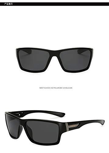 Gafas de Polarizadas Negro Ultra UV400 Vintage A Gafas Sol Sol Mujer Hombre Gafas Gafas Sol Deportivas de de Ligero Unisex Fliegend Sol Estuche Gafas de de Retro para sol 8gw7Zq
