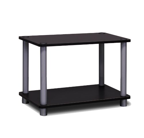 [해외]furinno 11250bkGY 2 층 회전 n 튜브 선반 블랙그레이 / Furinno 11250BKGY 2-Tier Turn-n-Tube Shelf BlackGrey
