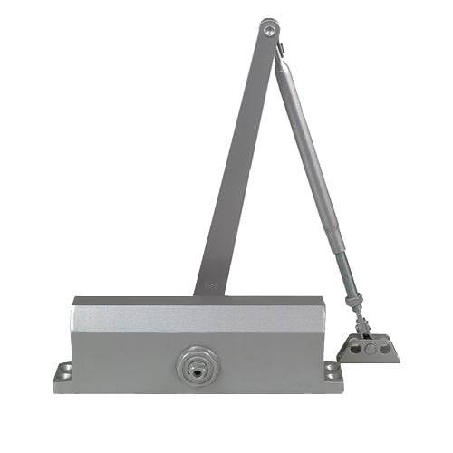Global Door Controls TC2205-BC-AL TC2200 Series Global Door Grade 3 Streamline Door Closer with Backcheck In Aluminum - Size 5