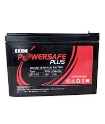 Exide 12V 7 Ah Powersafe Battery(Sealed),Original Replacement To Ups Battery Motorbike Accessories & Parts at amazon